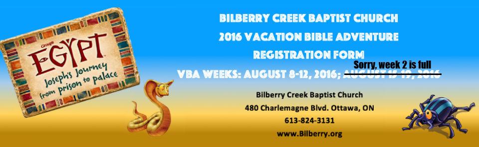 VBA 2016 – Registration Form